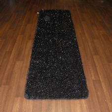 Romany Washables Runner/Mats 60x220cm Aprox 7ft Sparkle Design Black/Silver New